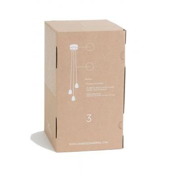 Ophangsysteem 3 mat antraciet met grijze geweven kabel - Accessoires voor verlichting - La Case de Cousin Paul