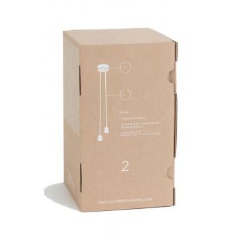 Suspension 2 gris anthracite mat avec fil tissé gris clair - Accessoires luminaires - La Case de Cousin Paul