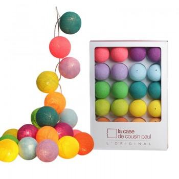 Guirlande 20 boules Multicolore - Promotions Guirlandes - La Case de Cousin Paul