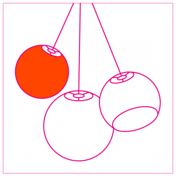 designer plafondlamp ball (driedubbel plafondlamp) - Designer - La Case de Cousin Paul