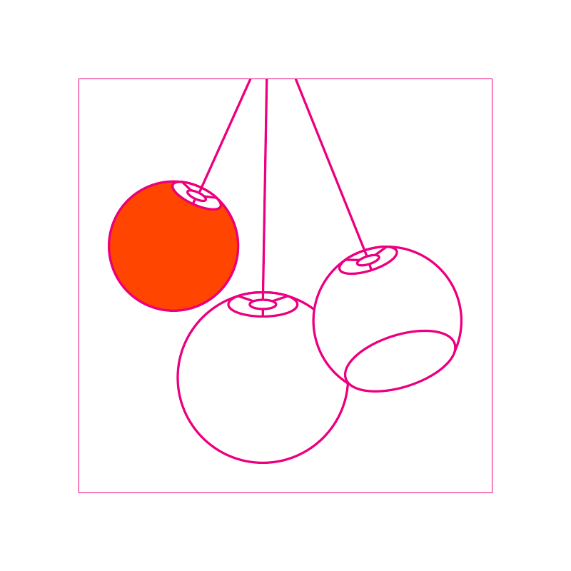 designer plafondlamp ball (vijf plafondlamp) - Designer - La Case de Cousin Paul