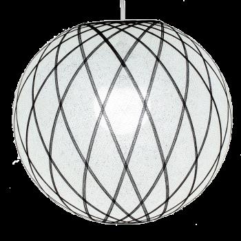 Globe Art déco blanc et noir - Abat-jour Art Déco - La Case de Cousin Paul
