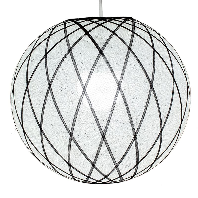 Lampenschirme Einzeln Art Déco weiß & schwarz - Lampenschirm Art Déco - La Case de Cousin Paul