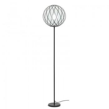 """Vloerlamp """"Art Deco"""" Zwart en wit - Vloerlamp - La Case de Cousin Paul"""