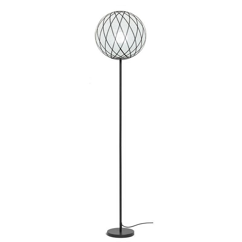 Art Deco floor lamp Black and white - Floor lamp - La Case de Cousin Paul
