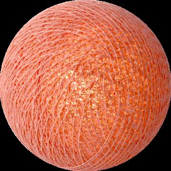 boule tissée pour guirlande Premium corail - Les guirlandes lumineuses - La Case de Cousin Paul