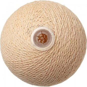 boule tissée pour guirlande Premium sable - Boules Tissées Premium - La Case de Cousin Paul