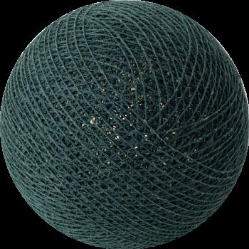 boule tissée pour guirlande Premium vert impérial - Boules Tissées Premium - La Case de Cousin Paul