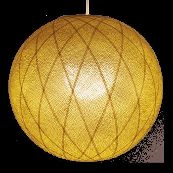 Globus Art Déco Senfgelb - Lampenschirm Art Deco - La Case de Cousin Paul