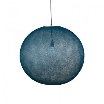 Globe Light XXL Bleu pétrole Ø 67cm - Abat-jour globe light - La Case de Cousin Paul