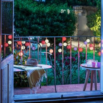 Guirlande 24 boules - Barbapapa - extérieur et intérieur - Guirlande lumineuse In & Outdoor - La Case de Cousin Paul