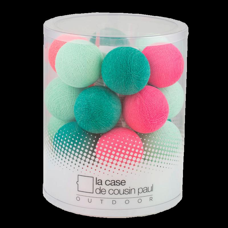 Guirlande 24 boules - Bubble gum - extérieur et intérieur - Guirlande lumineuse In & Outdoor - La Case de Cousin Paul