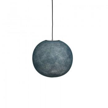 Globe Light Bleu pétrole Ø 36cm - Abat-jour globe light - La Case de Cousin Paul