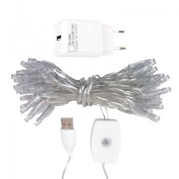 l'Original slinger met 35 lampjes LED transparant CE snoer - L'Original toebehoren - La Case de Cousin Paul