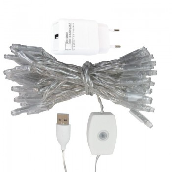 l'Original slinger met 50 lampjes LED transparant CE snoer - L'Original toebehoren - La Case de Cousin Paul