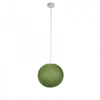 Einfache Aufhängung Kugel S olivgrün - Hängelampe einstrahlig - La Case de Cousin Paul