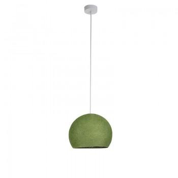 Einfache Aufhängung Kuppel S olivgrün - Hängelampe einstrahlig - La Case de Cousin Paul