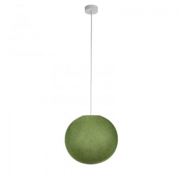 Einfache Aufhängung Kugel olivgrün - Hängelampe einstrahlig - La Case de Cousin Paul