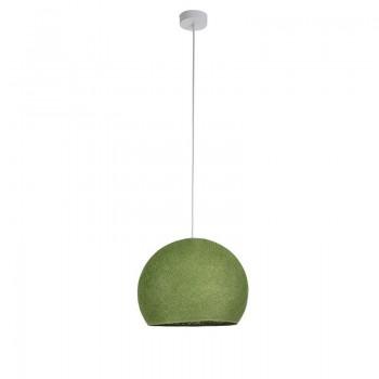 Einfache Aufhängung Kuppel olivgrün - Hängelampe einstrahlig - La Case de Cousin Paul