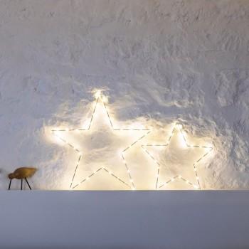 Decoración de luz estrella - Décoration lumineuse - La Case de Cousin Paul