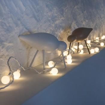 Guirnalda de bolas de nieve - Décoration lumineuse - La Case de Cousin Paul