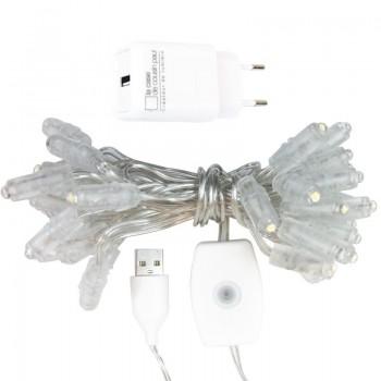 ghirlanda Premium con 35 LED e cavo CE trasparente - Accessori premium - La Case de Cousin Paul