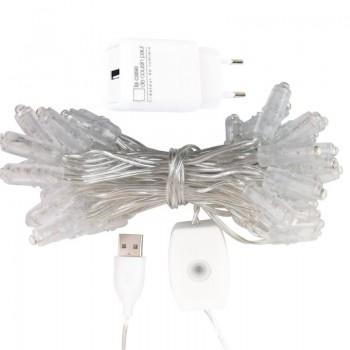Girlande Premium mit 50 LEDs, transparentes Kabel CE - Zubehör Premium - La Case de Cousin Paul