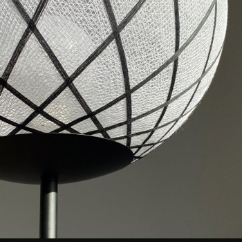 "Vloerlamp ""Art Deco"" Zwart en wit - Lantarentje - La Case de Cousin Paul"