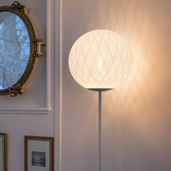 """Vloerlamp """"Art Deco"""" wit - Lantarentje - La Case de Cousin Paul"""
