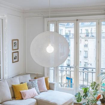 Globe Light XXL Blanc Ø 67cm - Abat-jour globe light - La Case de Cousin Paul