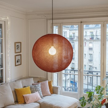 Globus Light XXL Terracotta Ø 67cm - Lampenschirm Globus Light - La Case de Cousin Paul