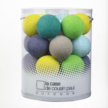 Guirlande 24 boules - Berlingot - extérieur et intérieur - Guirlande lumineuse In & Outdoor - La Case de Cousin Paul