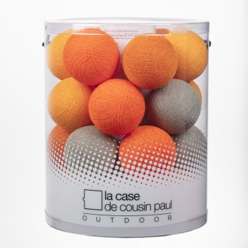 Fuzzy Peach - Guirlande 24 boules In et Outdoor - Guirlande lumineuse In & Outdoor - La Case de Cousin Paul