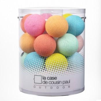Marshmallow - Guirlande 24 boules In et Outdoor - Guirlande lumineuse In & Outdoor - La Case de Cousin Paul