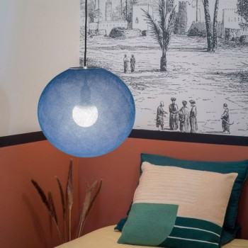 Globe Light Indigo Ø 36cm - Abat-jour globe light - La Case de Cousin Paul