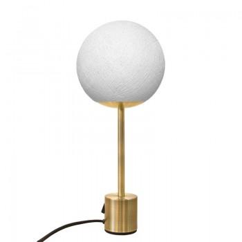 Lampe APAPA laiton - Blanc - Lampe Apapa - La Case de Cousin Paul