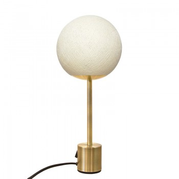 Lampe APAPA laiton Ivoire - Lampe Apapa - La Case de Cousin Paul