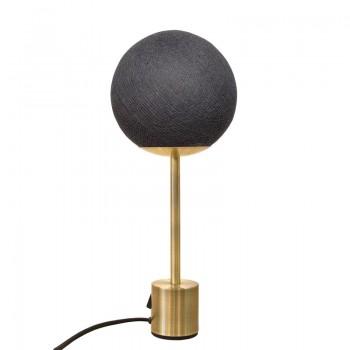 Lampe APAPA messing - Antraciet - Lamp Apapa - La Case de Cousin Paul