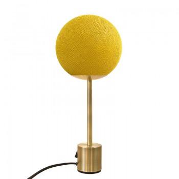 Messing-Lampe APAPA - Senfgelb - Lampe Apapa - La Case de Cousin Paul