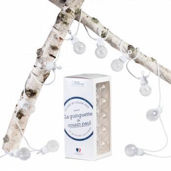 Guinguette transparente cable blanco - Estuches Guinguette - La Case de Cousin Paul
