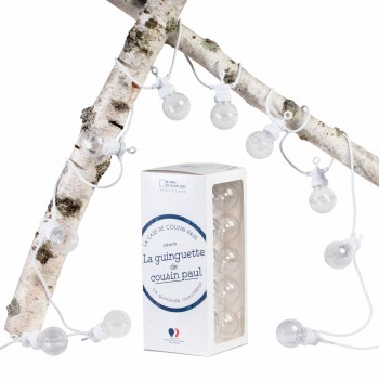 Coffret Guinguette transparent câble blanc - Coffrets Guinguette - La Case de Cousin Paul