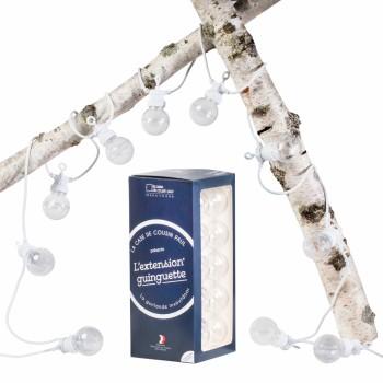Verlängerung Guinguette Transparent weiβ Kabel - Lichterketten Box Guinguette - La Case de Cousin Paul