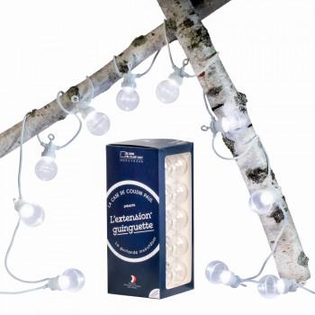 Extension Guinguette Transparent câble blanc - Coffrets Guinguette - La Case de Cousin Paul