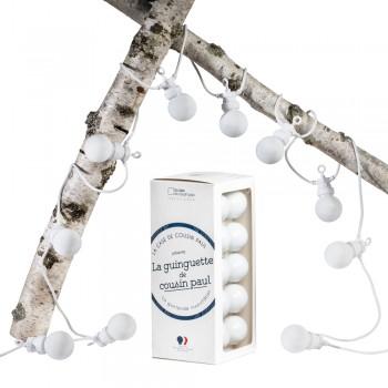 Guinguette neige witte kabel - Guinguette sets - La Case de Cousin Paul