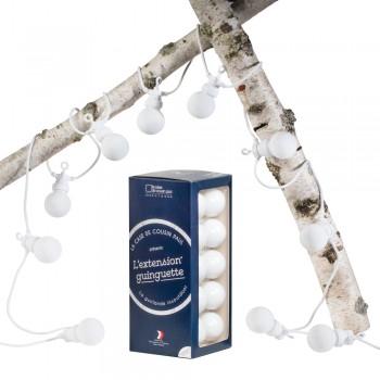 Uitbreiding Guinguette Neige witte kabel - Guinguette sets - La Case de Cousin Paul