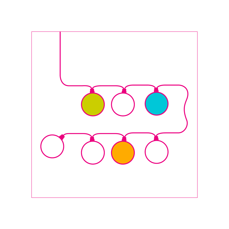 Mobile white wall light azure - Wall light - La Case de Cousin Paul