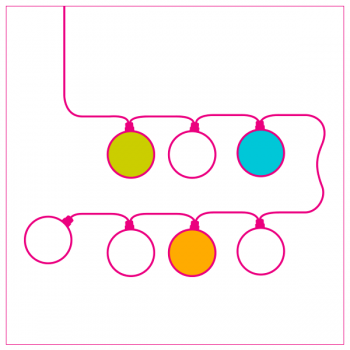 Mobile white wall light mustard - Wall light - La Case de Cousin Paul