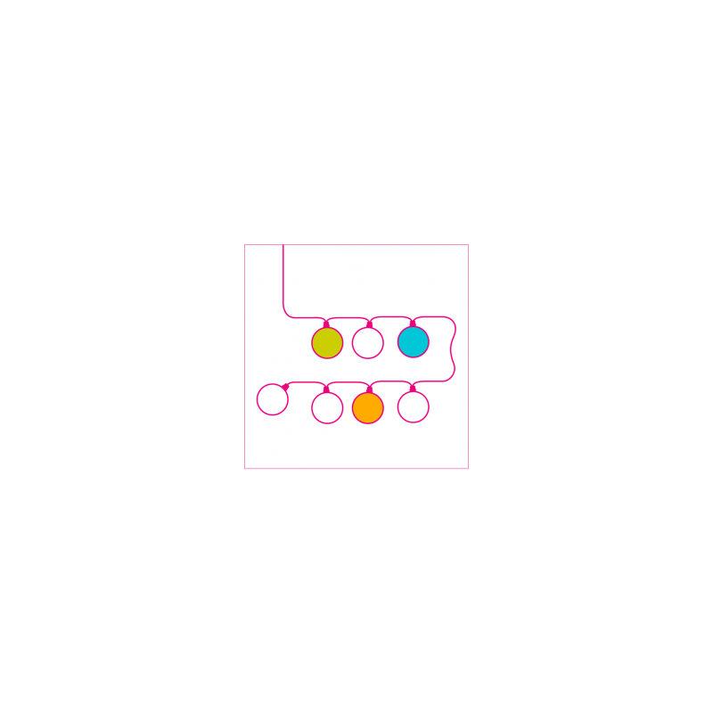 Globos Light Indigo Ø 36cm - Colleción LIGHT - La Case de Cousin Paul
