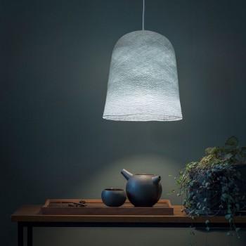Lamp Jupe azuurblauw met het licht aan